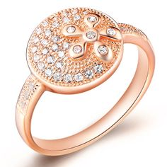 Platinum Plated/Rose Gold Plated Rings by UloveFashionJewelry, $9.87