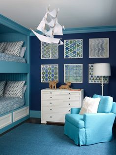 blue bunk room by Phoebe Howard
