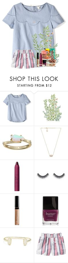 """late nights & long talks"" by livnewell ❤ liked on Polyvore featuring FOSSIL, Kendra Scott, tarte, Huda Beauty, Butter London and Old Navy"