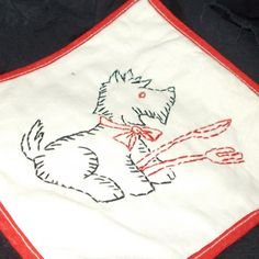 Vintage Scottie Dog Pot Holder