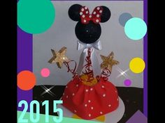 DIY CENTRO DE MESA MICKE MOUSE - YouTube