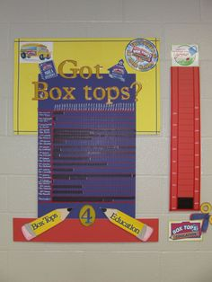 Box Tops Tracking Board