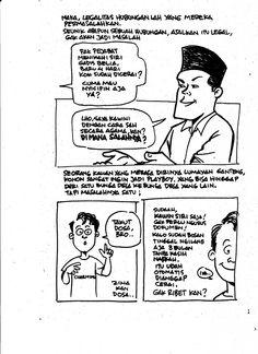 """Berantas Pelacuran 001. oleh Aji Prasetyo, seorang komikus yang juga mengelolah sebuah kedai kopi di Kota Malang. Buku komiknya pernah terbit dengan tajuk """"Hidup Itu Indah"""" (2010). Feminism, Places To Visit, Comics, Quotes, Quotations, Cartoons, Comic, Quote, Shut Up Quotes"""