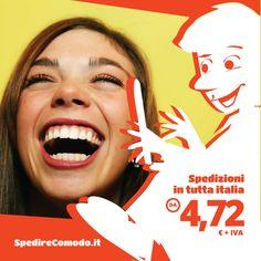 Un'occasione per sorridere? Le tariffe convenienti, i servizi facili e veloci per Europa e Italia, le scatole da ordinare con assicurazione e spedizione inclusa di SpedireComodo. Trovi tutti i nostri nuovi servizii su http://www.spedirecomodo.it #spedizioni #spedire #pacchi #scatole #scatola #imballaggio #imballare #merce #spedirecomodo #spedizioniinitalia #spedizioniineuropa #logistica #ecommerce #shoppingon…