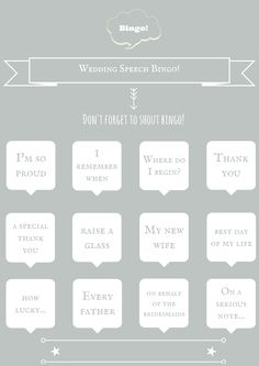 4 Free Printable Wedding Table Games To Have At Your Wedding! Wedding bingo free downloadable template.
