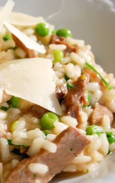 Steak, or any leftover beef can be added to this risotto. The key is constant stirring and plenty of simmering stock so the risotto flows on the plate. #smarterbeef