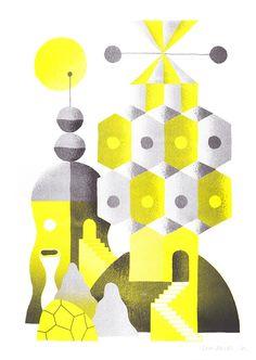 Spacestation island yellow - Levi Jacobs