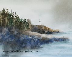 ★★★20% OFF SALE!!★Enter the coupon COLORS (all capitals) below payment method at checkout.★★★  I have been painting beach scenes this past year. I AM LISTING ORIGINALS WEEKLY. I love how the rocks and water meld into each other. This listing is for the ORIGINAL WATERCOLOR PAINTING of the lighthouse. It is 8.75 x 11 inches Horizontal. I will add a personalized message to the back; just ask me in the note to seller. ----------- Here are more originals…