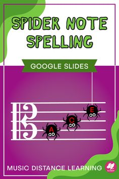 Spider Spelling is a fun activity that you can assign through Google Classroom for practicing alto clef note names on the staff! The Halloween theme is perfect for October distance learning assignments and useful for assessments with viola students in beginner orchestra.