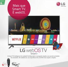 """Smart TV LED 3D 42"""" LG 42LF6400 Full HD com Conversor Digital 3 HDMI 3 USB Wi-Fi + 4 Óculos 3D - Americanas.com"""