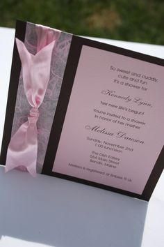 homemade baby shower invitations - Google Search
