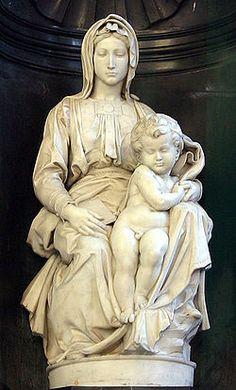 Miguel Angel, Virgen de Brujas o Virgen con el niño, se encuentra en la iglesia de Nuestra Señora en Brujas - Bélgica.
