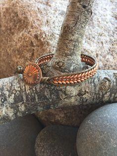 Debra Levens Jewelry Design Copper weave single wrap bracelet Seed Bead Bracelets, Seed Bead Jewelry, Sea Glass Jewelry, Bracelets For Men, Bangle Bracelets, Beaded Jewelry, Handmade Jewelry, Mom Jewelry, Jewelry Design
