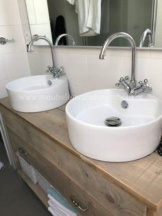 Badkamermeubel steigerhout met lade