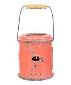 Look what I found on #zulily! Pink Flamingo Cutout Lantern #zulilyfinds
