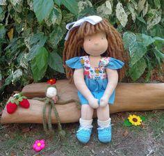 Que doçura a minha Alice. Linda de vestido novo que fiz para ela. ♥♥