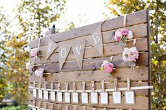 What wedding pallet ideas do you have? Any of these Recycled pallet wedding table plans trap your fancy in your wedding ceremony or celebratory event? Wedding Signs, Diy Wedding, Rustic Wedding, Moon Wedding, Wedding Ideas, Pallet Wedding, Wedding Table, Seating Cards, Pallet Crafts