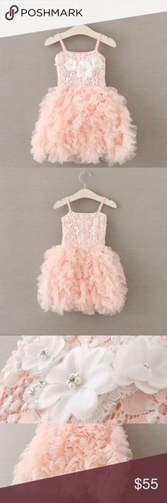 Girl pink dress,girl ruffle dress,girl tutu dress Beautiful pink tulle dress. Perfect for that little princess sizes 2T/6xT  Knee length  Super on the side  True to sizes Dresses Formal