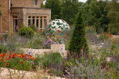 A diameter solid brass Garden sculpture sphere. The design is based on a Hydrangea flower, the choice of my client. Steel Sculpture, Garden Sculpture, David Murphy, Hydrangea Flower, Flowers, Solid Brass, Sculptures, Clouds, Design