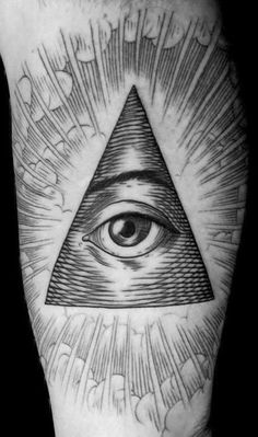 If you would look at a US dollar bill, you'll find that there's an Eye of Providence there! Tattoo by Easy Sacha.