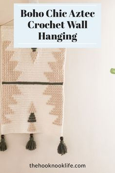 Make this easy DIY Crochet Wall Hanging using the Free Pattern on The Hook Nook Life Blog! Make this crochet project today to decorate your home office now! Diy Crochet Patterns, Crochet Patterns For Beginners, Craft Patterns, Easy Crochet, Crochet Stitches, Free Crochet, Diy Crafts List, Diy Craft Projects, Crochet Projects