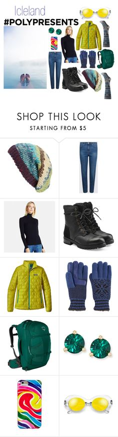 """#PolyPresents: Dream Vacation"" by moestesoh ❤ liked on Polyvore featuring Michael Stars, Uniqlo, UGG, Patagonia, Isotoner, Osprey, Kate Spade, Dylan's Candy Bar, contestentry and polyPresents"