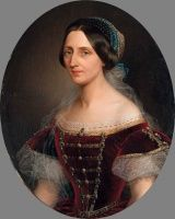 Barabás Henriette (1842-1892): Női portré, 1861 | axioart.com