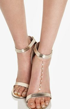 DailyLook: Sage & Stone Crystal Anklet in Gold Everyday Princess, Jeweled Sandals, Trendy Fashion, Womens Fashion, Bare Foot Sandals, Daily Look, Anklet, Me Too Shoes, Shoe Boots