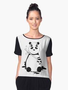 Bamboo lover panda by Nymths.#bamboo #panda #bear #zoo #creepy #horror #animal #love #pattern #design #decor #home #room #homedecor #roomdecor #fashion #ootd #dark #redbubble #blackandwhite #graphicdesign #graphictee #kawaii #cute #art #illustration #crystals #lineart