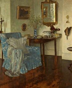 An Interior by Leonard Campbell Taylor (1874–1969)