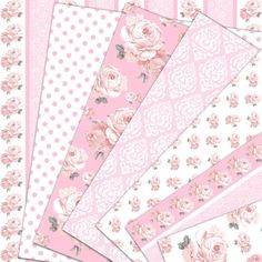 Pink digital paper : In Love with PINK shabby by HajDesignPapers