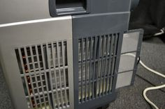portable air conditioner filters slide out for cleaning