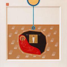 Nativity contemporary icon by Danylo Movchan