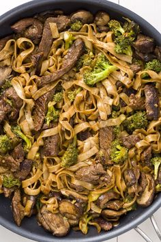With soy sauce-infused flank steak and broccoli, these rice noodles are so much better than takeout. Get the recipe from Delish. - Delish.com