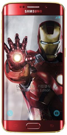 Samsung Galaxy S6 edge by Iron Man design