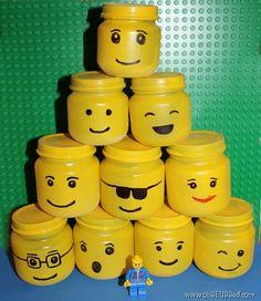 mini lego jars