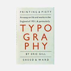 В 1936 году вышло второе издание книги «Эссе о типографике» Эрика Гилла, в котором он иронично отмети