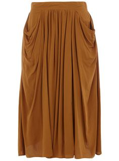 Dorothy Perkins  Camel pocket midi skirt  £28.00