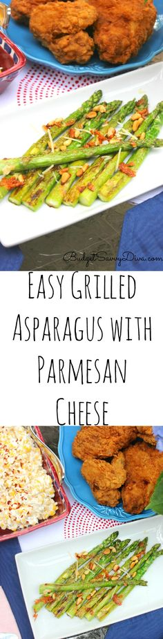 #AD Easy Grilled Asparagus with Parmesan Cheese Recipe - recipe is gluten free and amazing. If you are looking for a Easy Gluten Free Side Dish recipe this is the one for you. I really hope you enjoy this one - I loved making it!