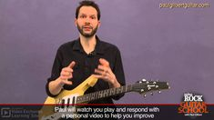 Guitar Lessons with Paul Gilbert: String Bending Guitar Shop, Music Guitar, Playing Guitar, Easy Guitar, Guitar Tips, Paul Gilbert, Online Guitar Lessons, Blues, School Videos