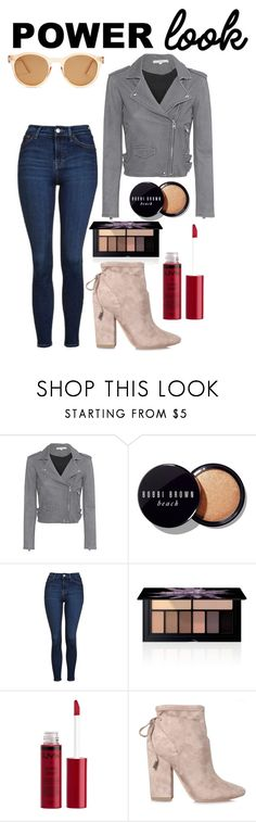 """""""Staring Under Star Central"""" by jennacorrea ❤ liked on Polyvore featuring IRO, Bobbi Brown Cosmetics, Topshop, Smashbox, Charlotte Russe, Kendall + Kylie, Le Specs, outfit, ootd and statement"""