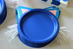 kitten paper plates Puppy + Kitten themed birthday party via Kara's Party Ideas KarasPartyIdeas.com Cake, decor, tutorials, favors, cupcakes, games, etc! #puppy...