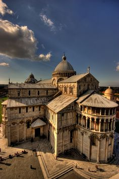 The Pisa Cathedral in Italy is a masterpiece of Romanesque architecture.