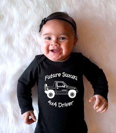 Suzuki Sidekick, or Geo Tracker Baby Onesies or Toddler T-Shirt Samurai, Daddys Princess, Word Design, Daddys Little, Cotton Shorts, Geo, Car Seats, Onesies, Long Sleeve Shirts