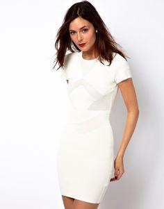 She is wearing Ritual Wear... ... ... little white dress, pretty
