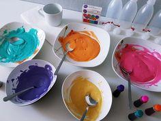 Magische 3D Bilder aus Plusterfarbe: Puffy Paint Farbe selber machen  Plusterfarbe selber machen: günstig, schnell, einfach! Puffy Farbe DIY Anleitung für Kinder. Nach 30 Sekunden Trocknen hältst du dein 3D Bild in den Händen.