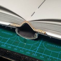 I'm happy with the way this spine turned out. #bookbinding #bookart #springback #photoalbum
