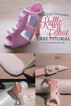 pregnant woman cake topper tutorial | : TUTORIAL!! How to make a gorgeous Gum paste Ruffled High Heel Cake ...