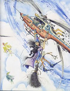 Winnie Flies Again Winnie The Witch, Illustrations, Halloween, Sci Fi, Sombre, Inspiration, Image, Witches, Authors