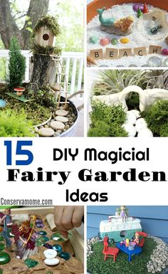Here is a round up of 15 DIY Magical Fairy Garden Ideas that will help you get inspired to create your own along with some tips to help you get started.